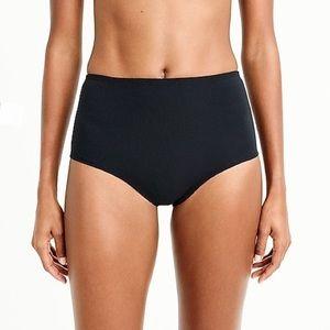 J.Crew High-Waisted Bikini Bottom Pique Nylon